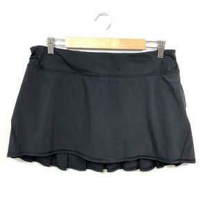 Lululemon Pace Setter Black Skirt Size 10